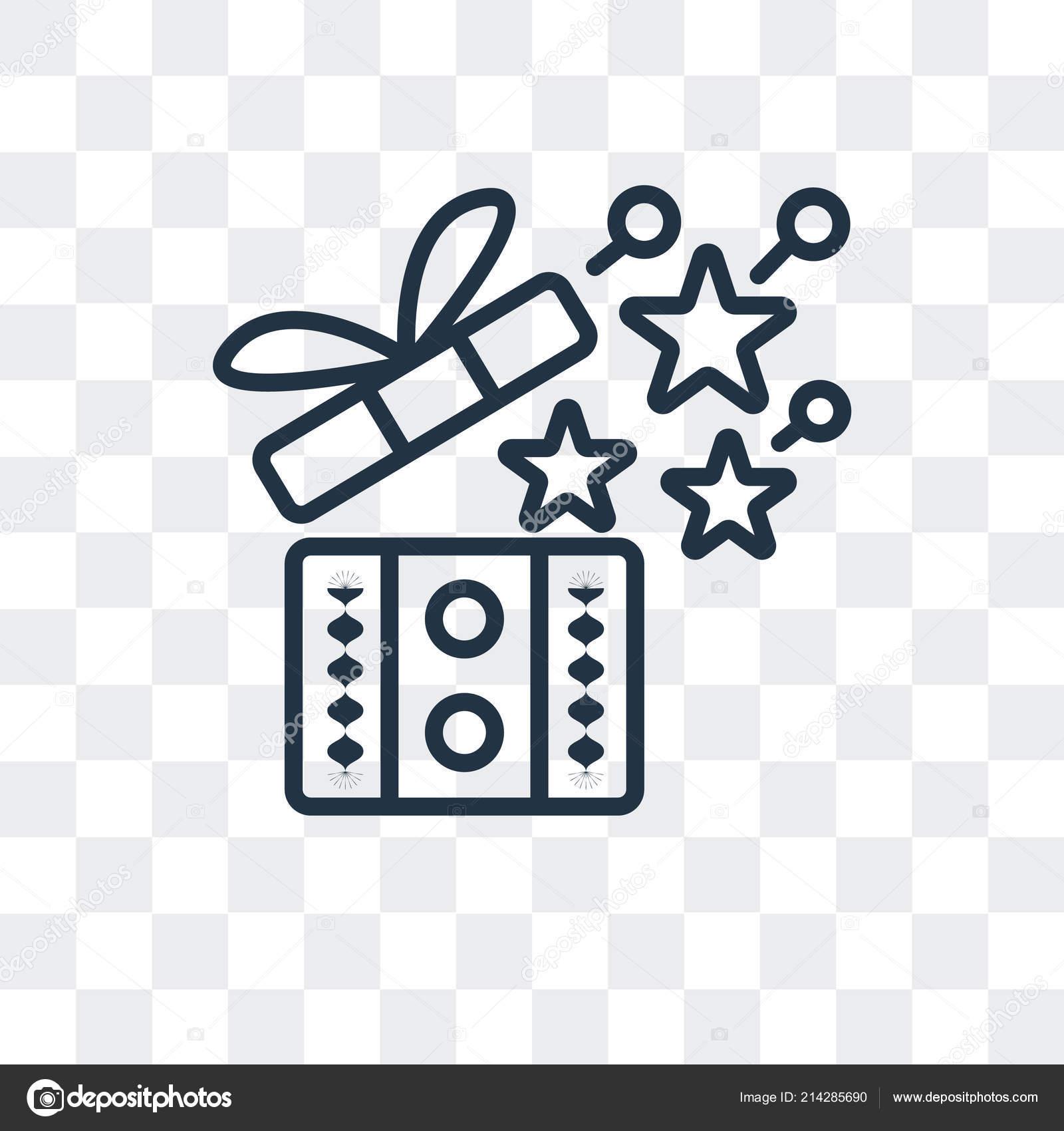 Gift Box Vector Icon Isolated On Transparent Background Gift Box Logo Design Stock Vector C Bestvectorstock 214285690