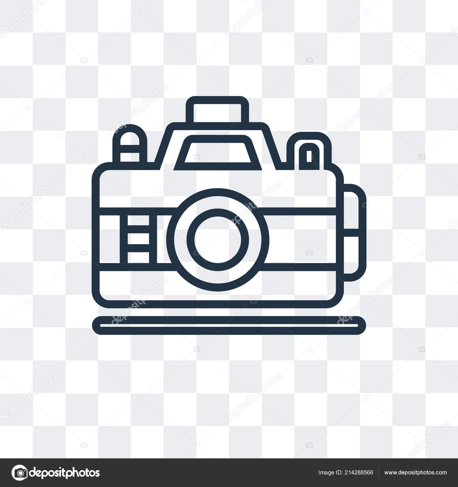 Photo Camera Vector Icon Isolated On Transparent Background Photo Camera Logo Design Stock Vector C Bestvectorstock 214288566