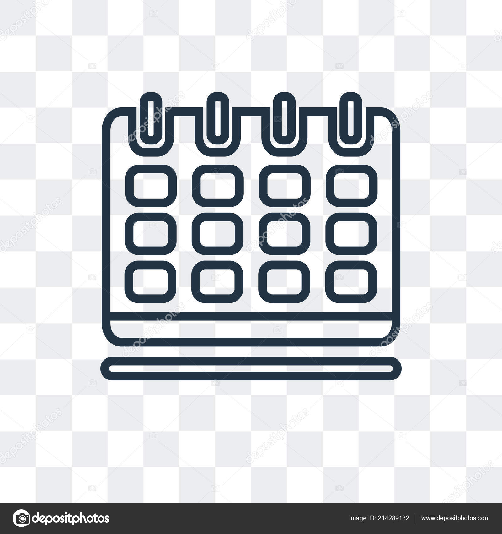 Illustration Calendrier.Calendar Vector Icon Isolated On Transparent Background