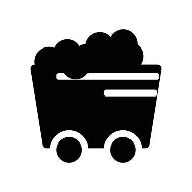 Coal Wagon icon vector isolated on white background, Coal Wagon