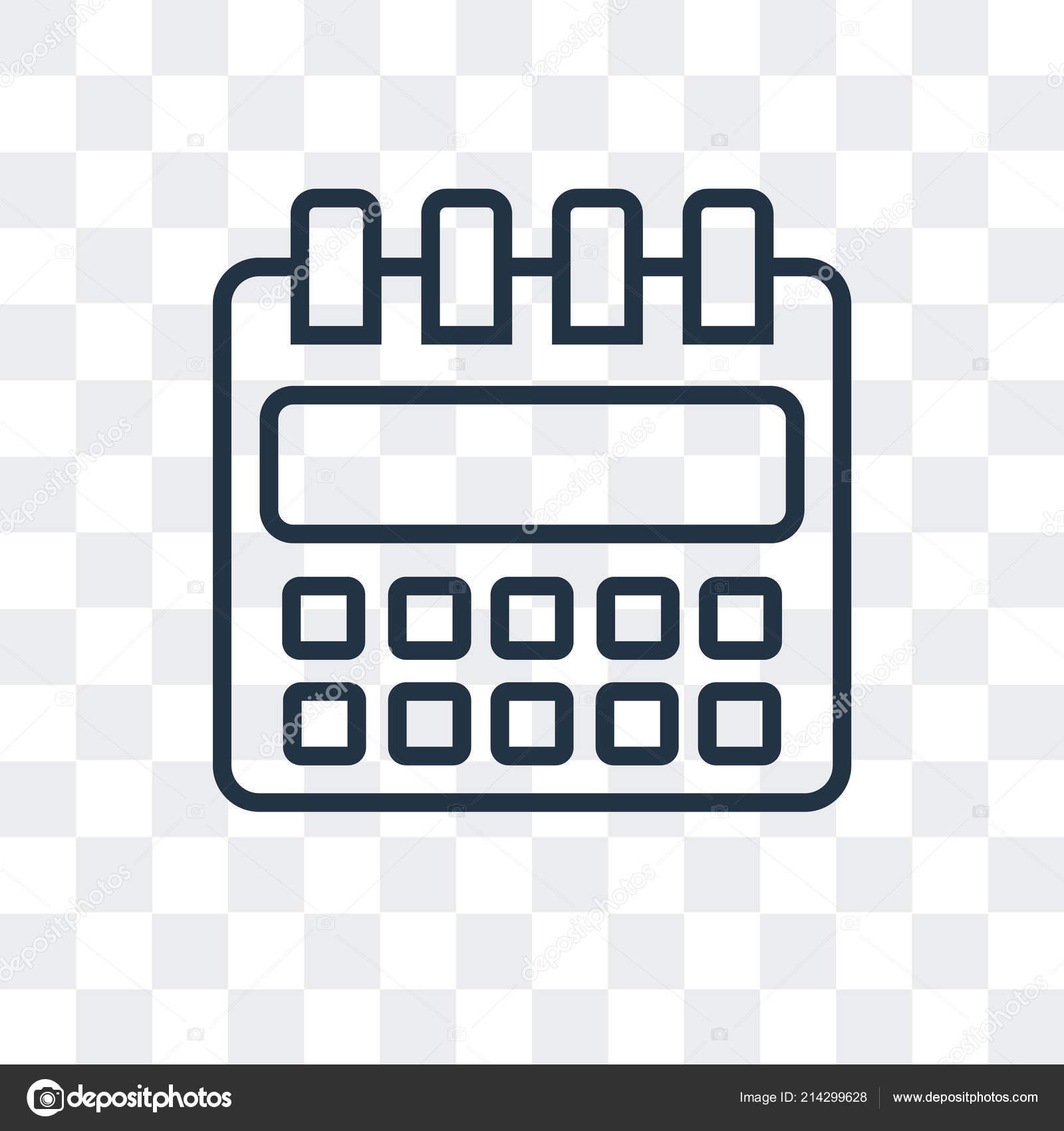 Calendrier Icone Png.Icone Calendrier Vecteur Isole Sur Fond Transparent