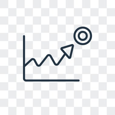 Stats vector icon isolated on transparent background, Stats logo design
