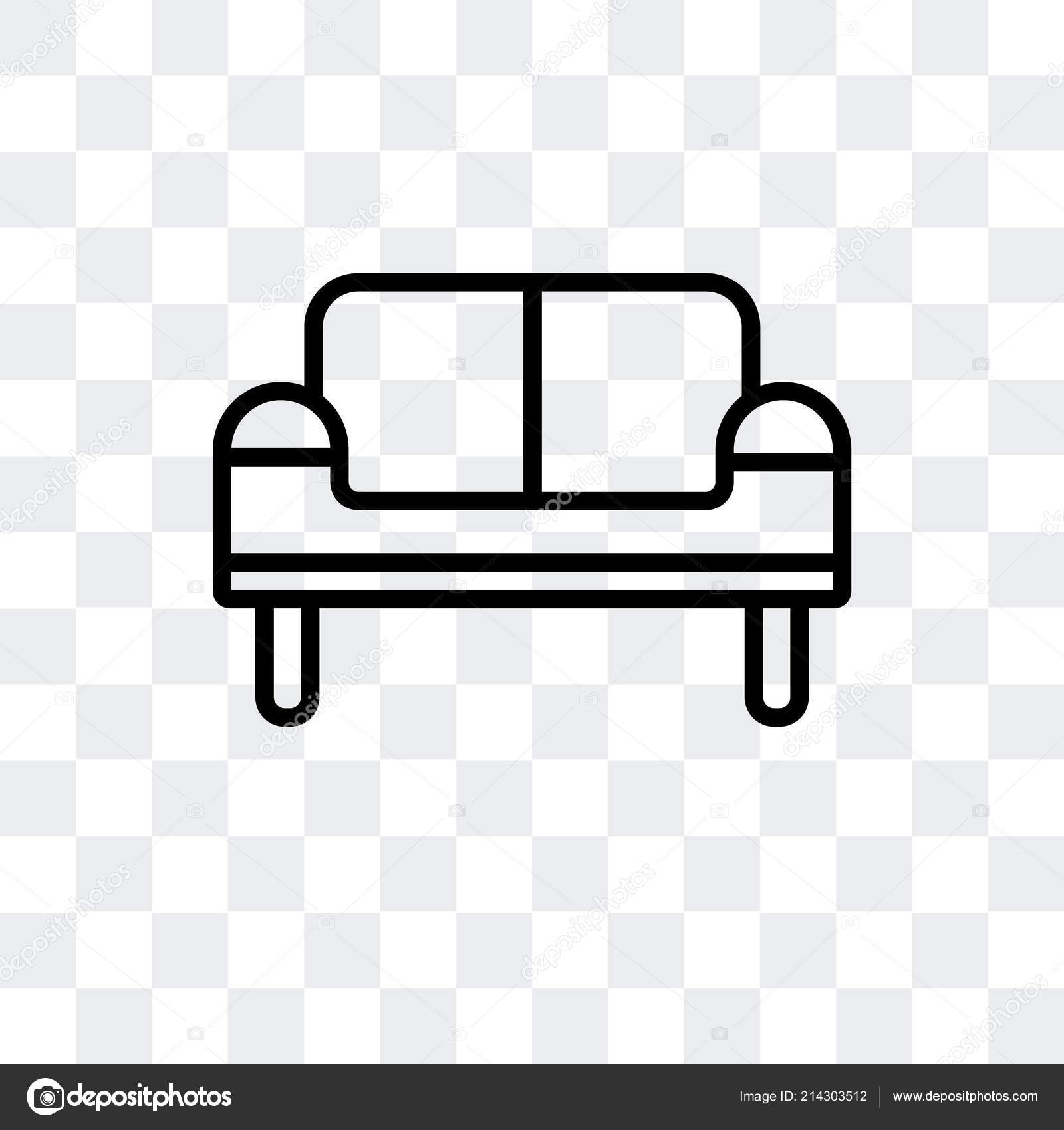 Sofa vector icon isolated on transparent background, Sofa ...