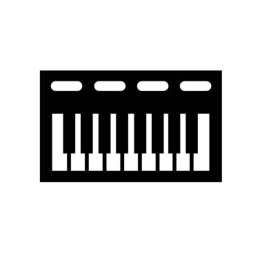 music Keyboard icon. Trendy music Keyboard logo concept on white background from Music collection. Suitable for use on web apps, mobile apps and print media.