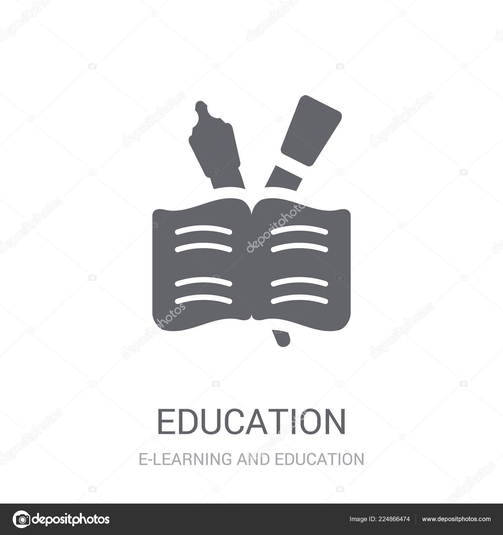 Education Icon Trendy Education Logo Concept White