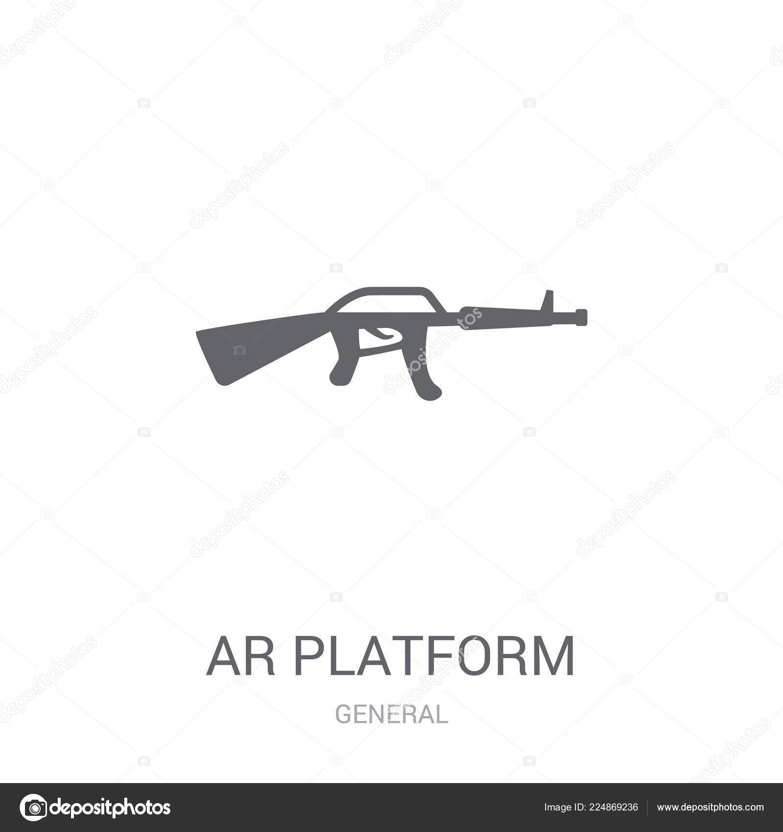Platform Icon Trendy Platform Logo Concept White Background