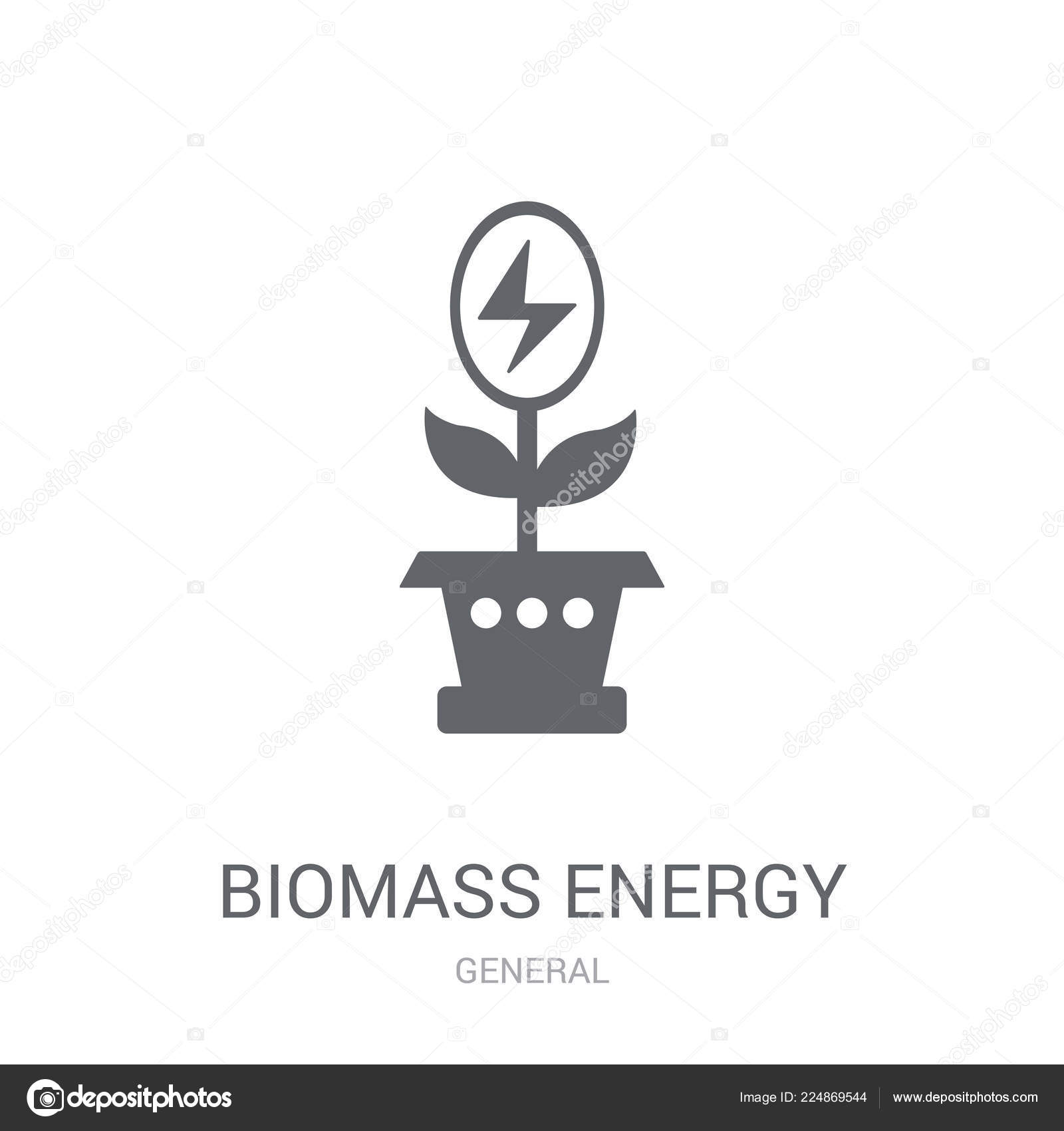 Biomass Energy Icon Trendy Biomass Energy Logo Concept White
