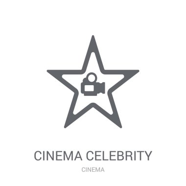 cinema celebrity icon. Trendy cinema celebrity logo concept on white background from Cinema collection. Suitable for use on web apps, mobile apps and print media.