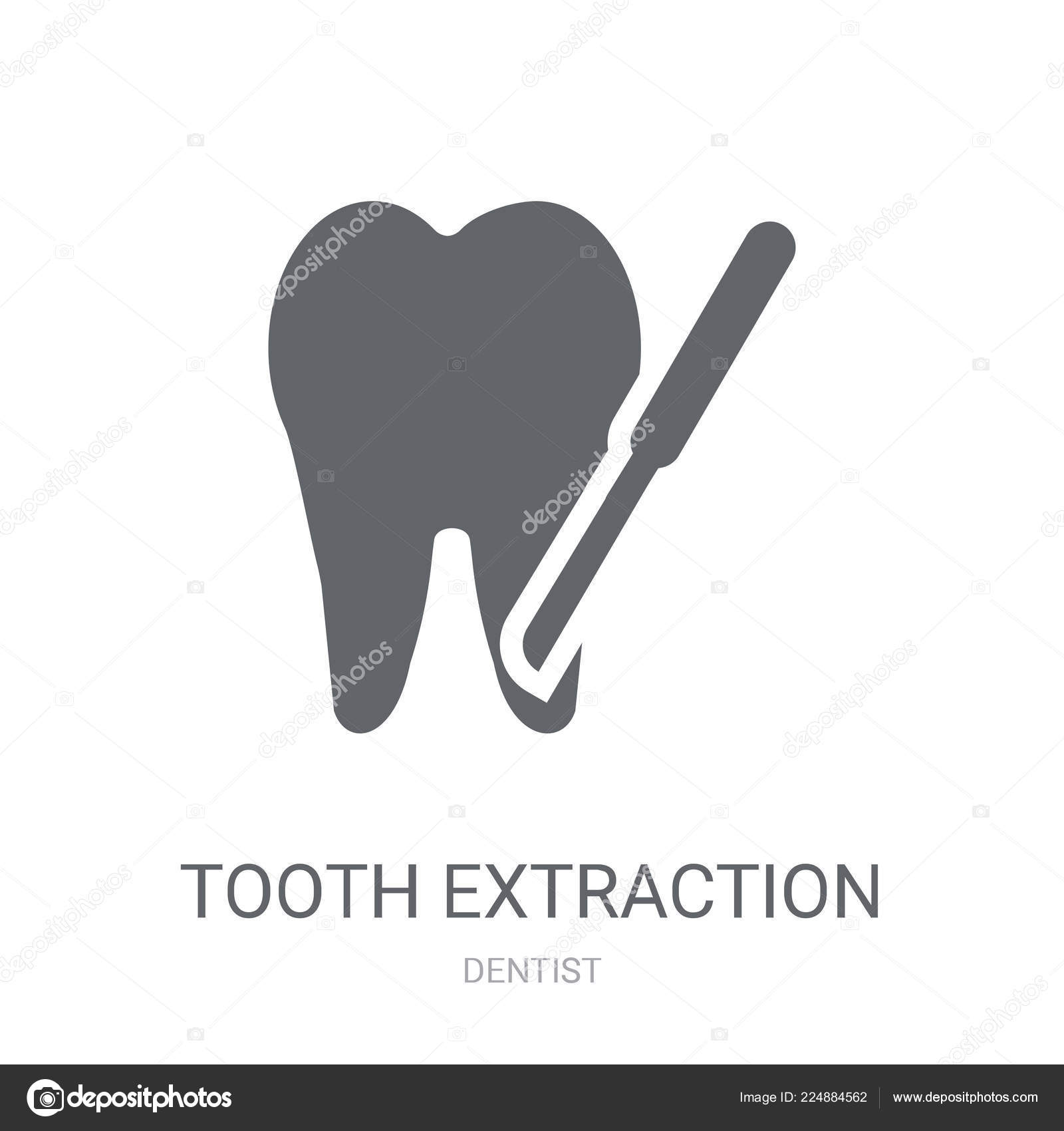 Tooth Extraction Icon Trendy Tooth Extraction Logo Concept