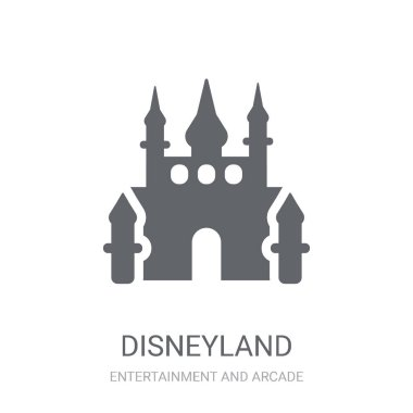 Disneyland icon. Trendy Disneyland logo concept on white background from Entertainment and Arcade collection. Suitable for use on web apps, mobile apps and print media.