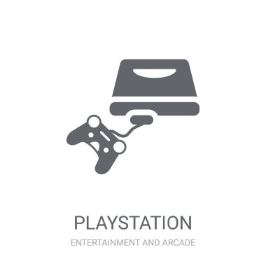 Playstation icon. Trendy Playstation logo concept on white background from Entertainment and Arcade collection. Suitable for use on web apps, mobile apps and print media.