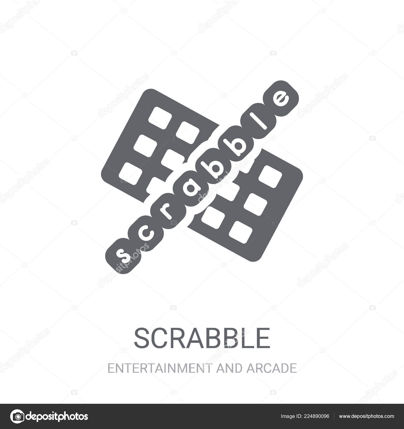 Scrabble Icon Trendy Scrabble Logo Concept White Background