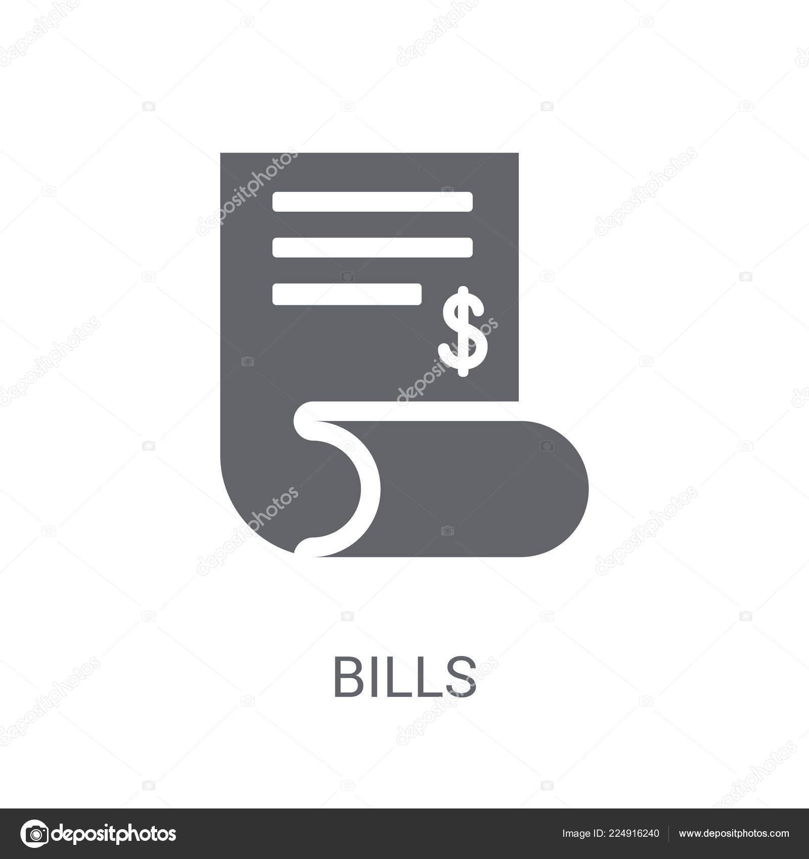 Rechnungen Symbol Trendige Rechnungen Logokonzept Auf Weißem
