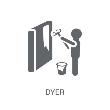 Dyer icon. Trendy Dyer logo concept on white background from Professions collection. Suitable for use on web apps, mobile apps and print media.