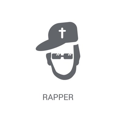 Rapper icon. Trendy Rapper logo concept on white background from United States of America collection. Suitable for use on web apps, mobile apps and print media.