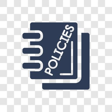 hr policies icon. Trendy hr policies logo concept on transparent background from General collection