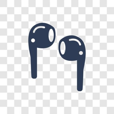 Airpods icon. Trendy Airpods logo concept on transparent background from Internet Security and Networking collection