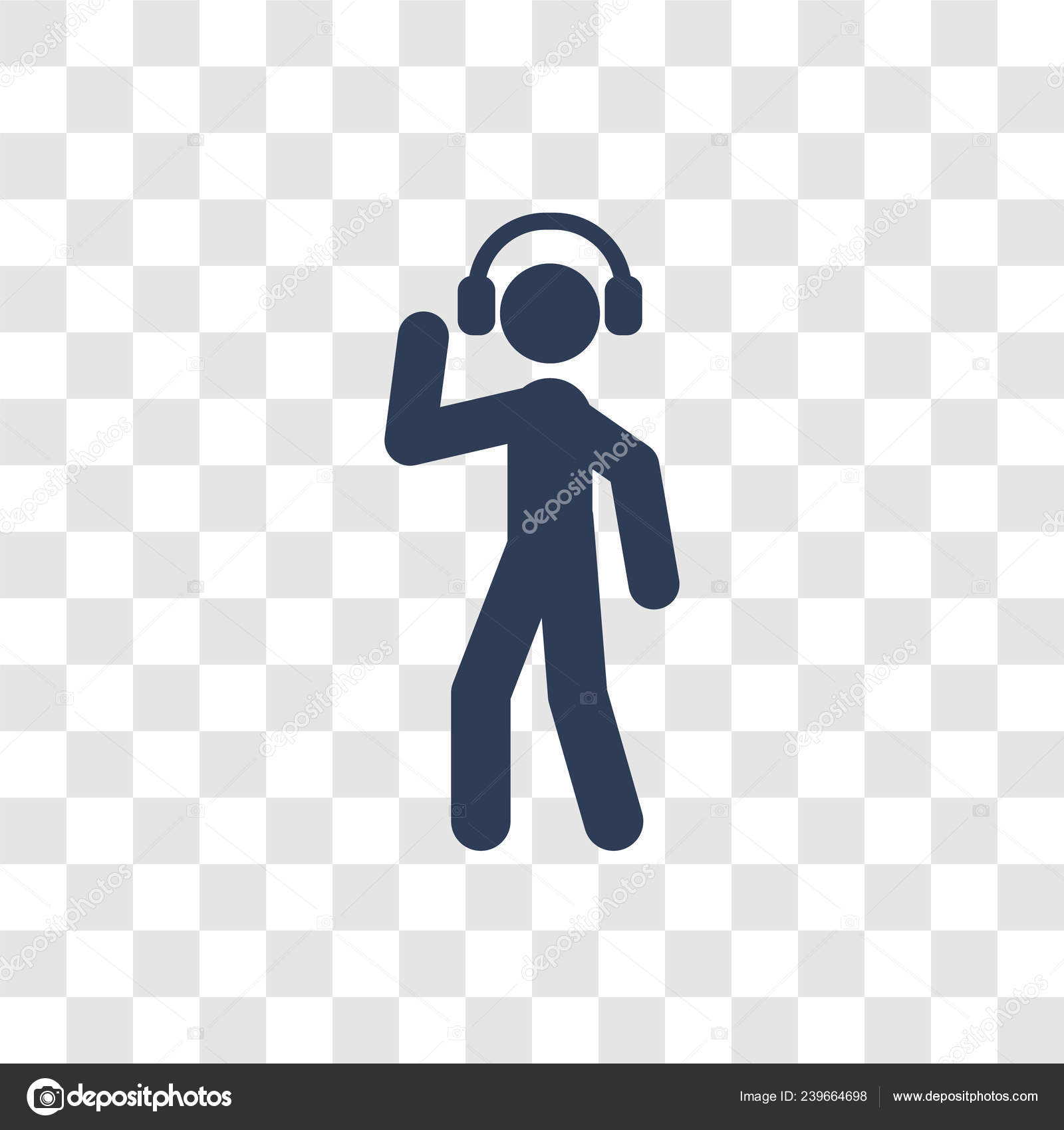 Listening Music Icon Trendy Listening Music Logo Concept