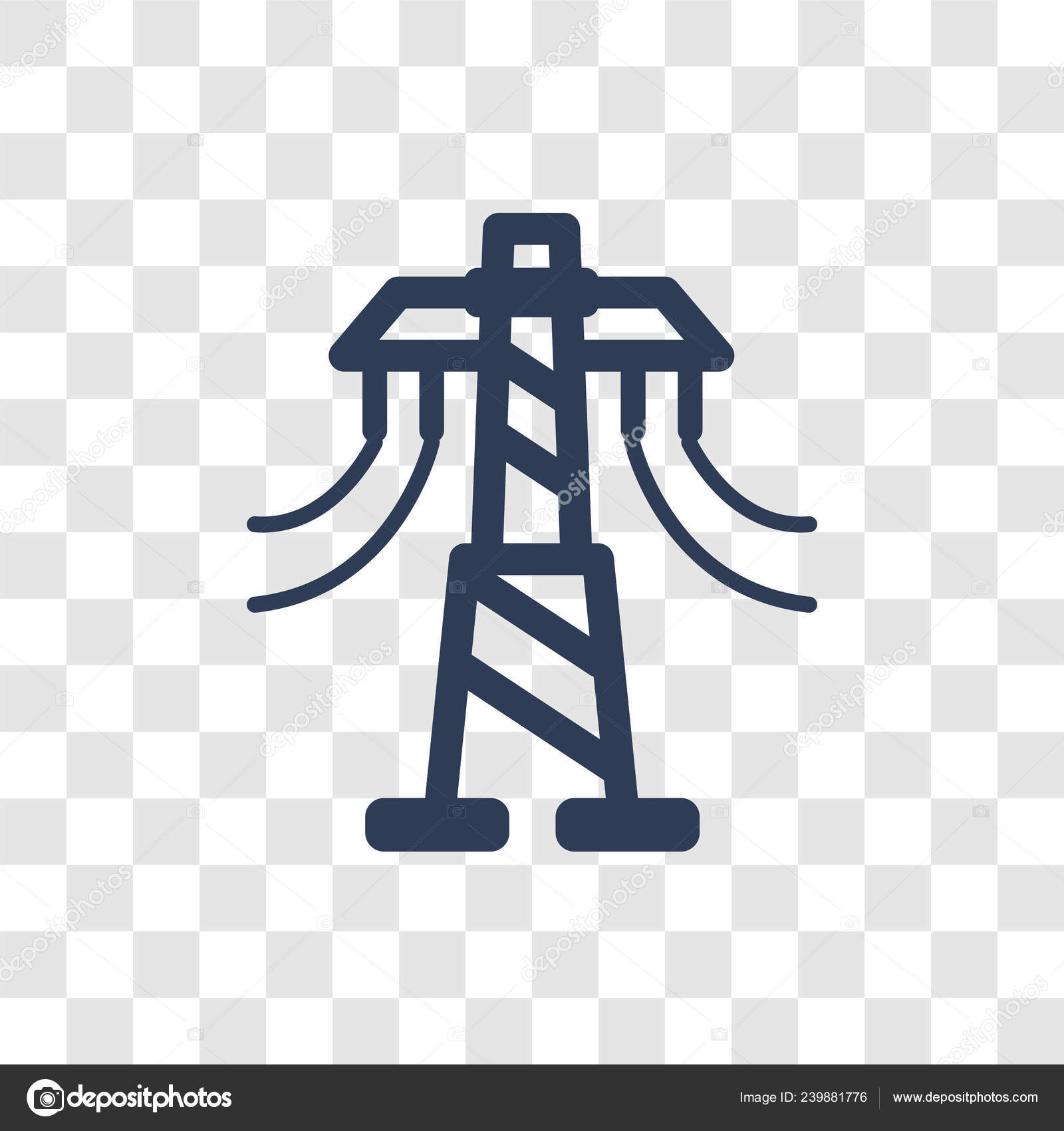 Transmission Tower Icon Trendy Transmission Tower Logo Concept Transparent Background Vector Image By C Bestvectorstock Vector Stock 239881776