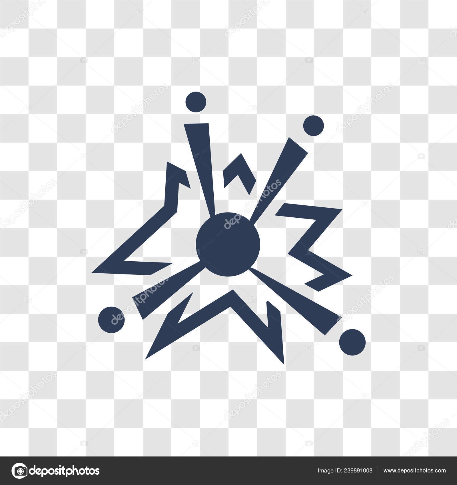 Urknall Symbol Trendige Big Bang Logokonzept Auf Transparenten