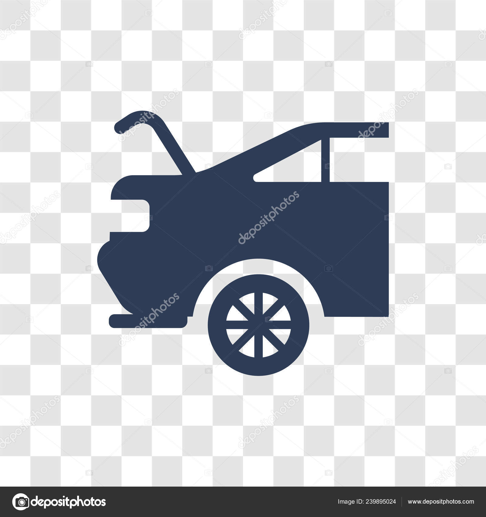 Car Boot Icon Trendy Car Boot Logo Concept Transparent Background