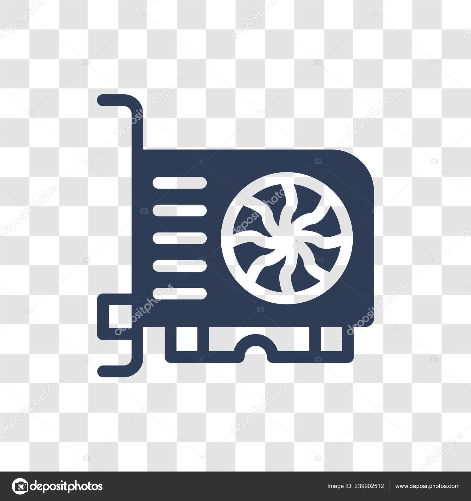 Vga Card Icon Trendy Vga Card Logo Concept Transparent