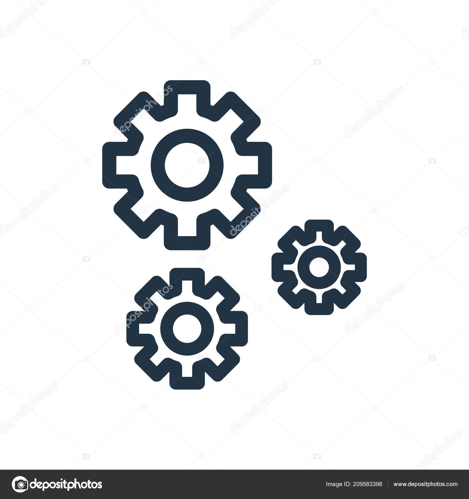 Settings Icon Vector Isolated White Background Settings Transparent