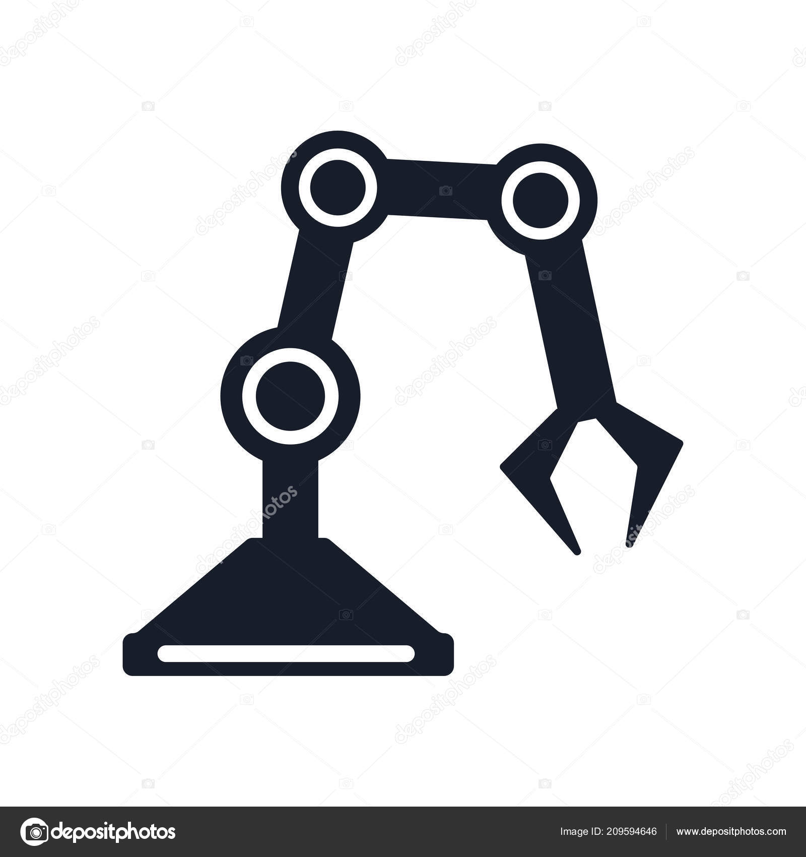 Industrial Robot Icon Vector Isolated White Background Your