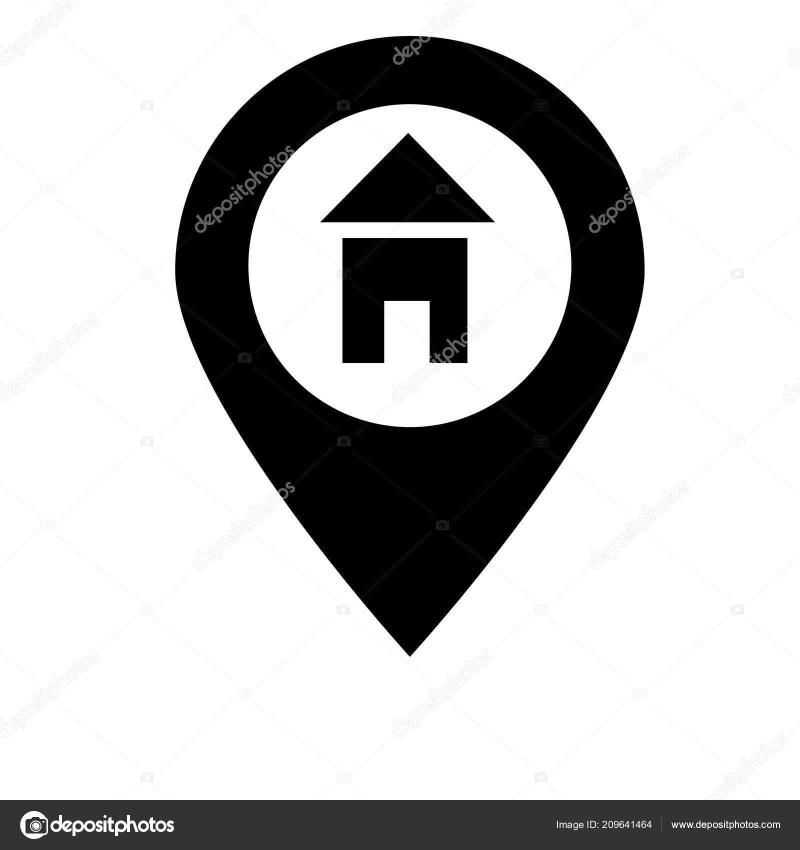 Location Icon Vector Isolated White Background Your Web