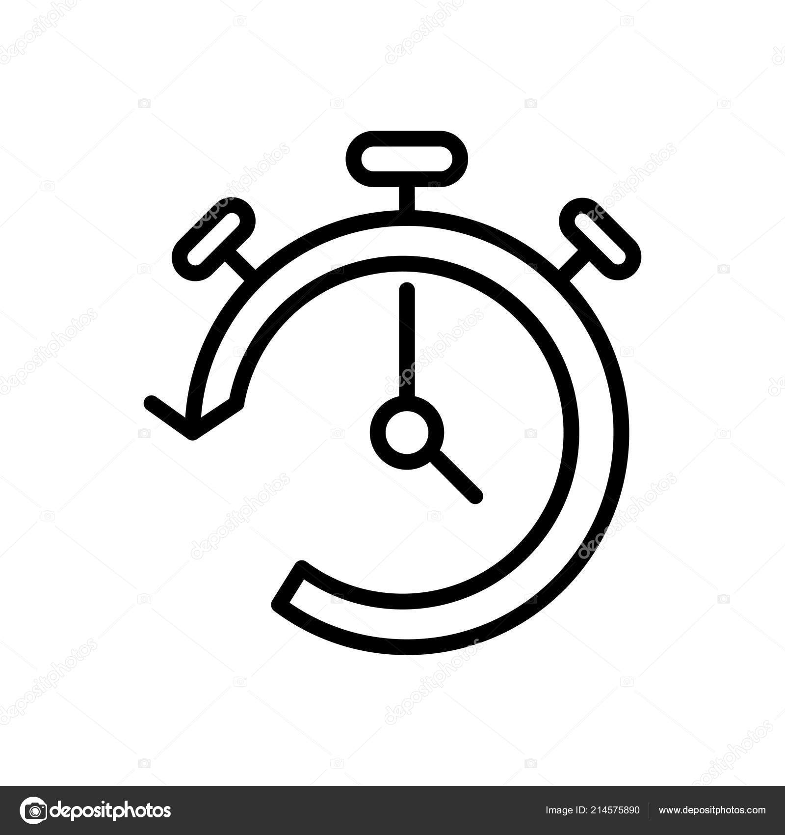 Timer Icon Vector Isolated White Background Timer