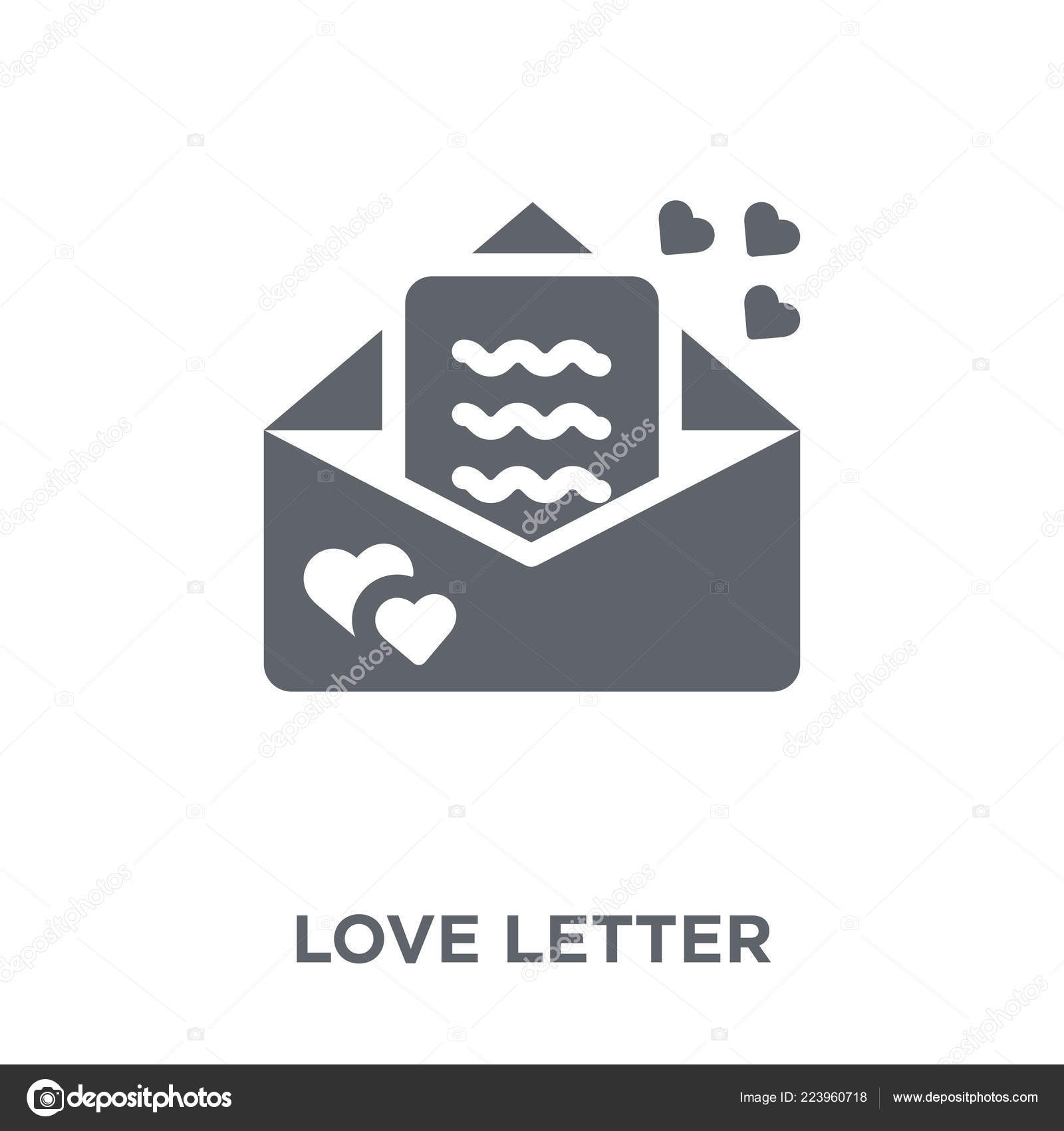 Love Letter Icon Love Letter Design Concept Wedding Love Collection