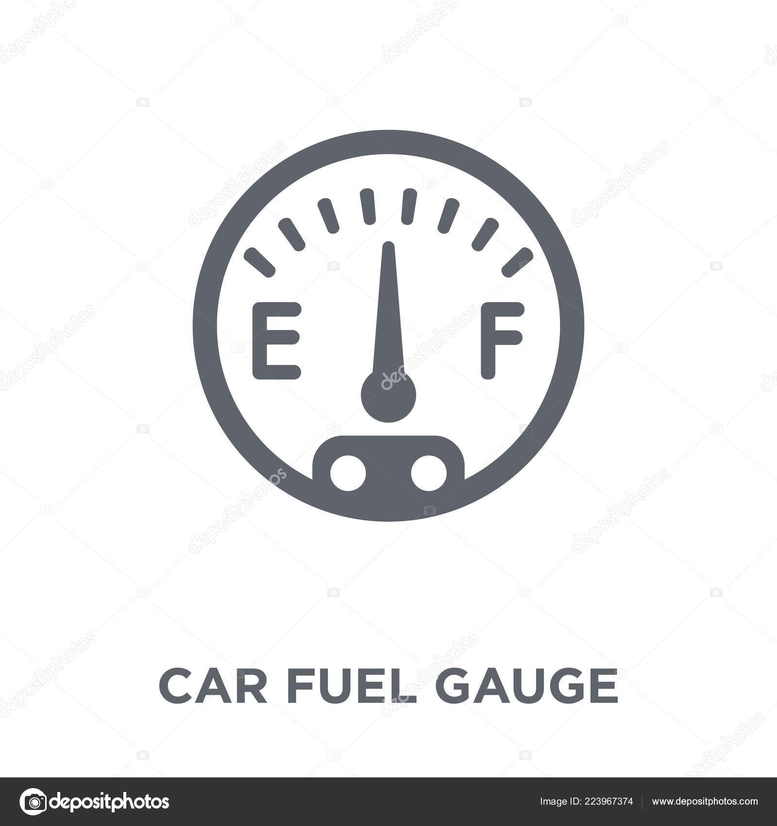 Car Fuel Gauge Icon Car Fuel Gauge Design Concept Car
