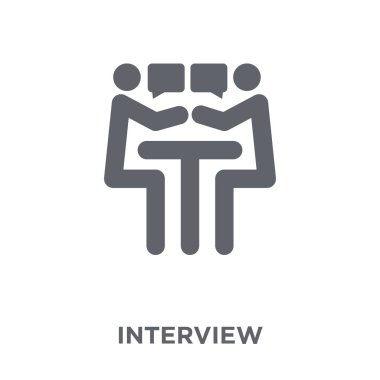 Interview icon. Interview design concept from Human resources collection. Simple element vector illustration on white background.