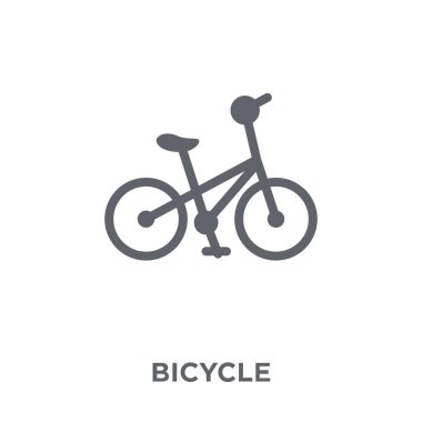 Bicycle icon. Bicycle design concept from  collection. Simple element vector illustration on white background.