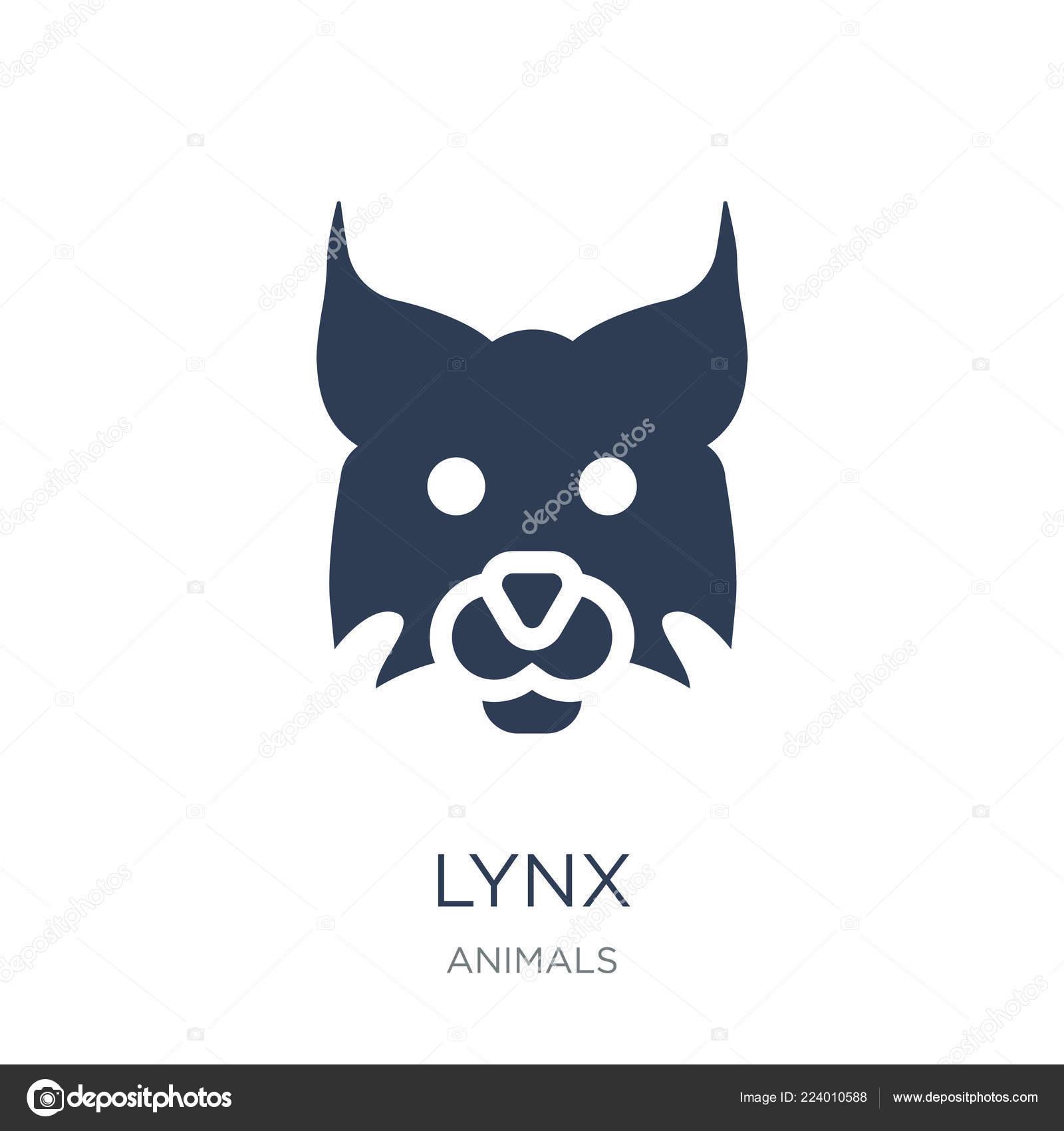 Lynx Icon Trendy Flat Vector Lynx Icon White Background