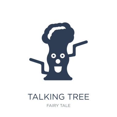 Talking tree icon. Trendy flat vector Talking tree icon on white background from Fairy Tale collection, vector illustration can be use for web and mobile, eps10