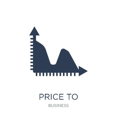 Price to earnings ratio (PE ratio) icon. Trendy flat vector Price to earnings ratio (PE ratio) icon on white background from business collection, vector illustration can be use for web and mobile, eps10