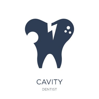 Cavity icon. Trendy flat vector Cavity icon on white background from Dentist collection, vector illustration can be use for web and mobile, eps10