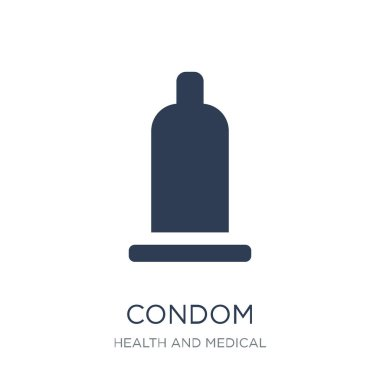 Condom icon. Trendy flat vector Condom icon on white background from Health and Medical collection, vector illustration can be use for web and mobile, eps10