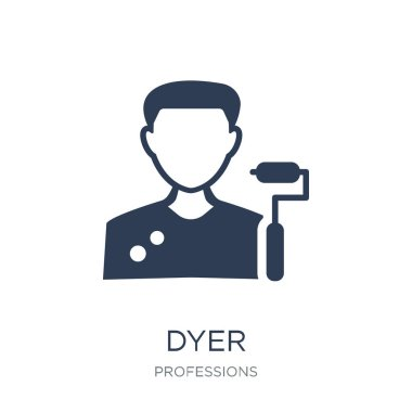 Dyer icon. Trendy flat vector Dyer icon on white background from Professions collection, vector illustration can be use for web and mobile, eps10