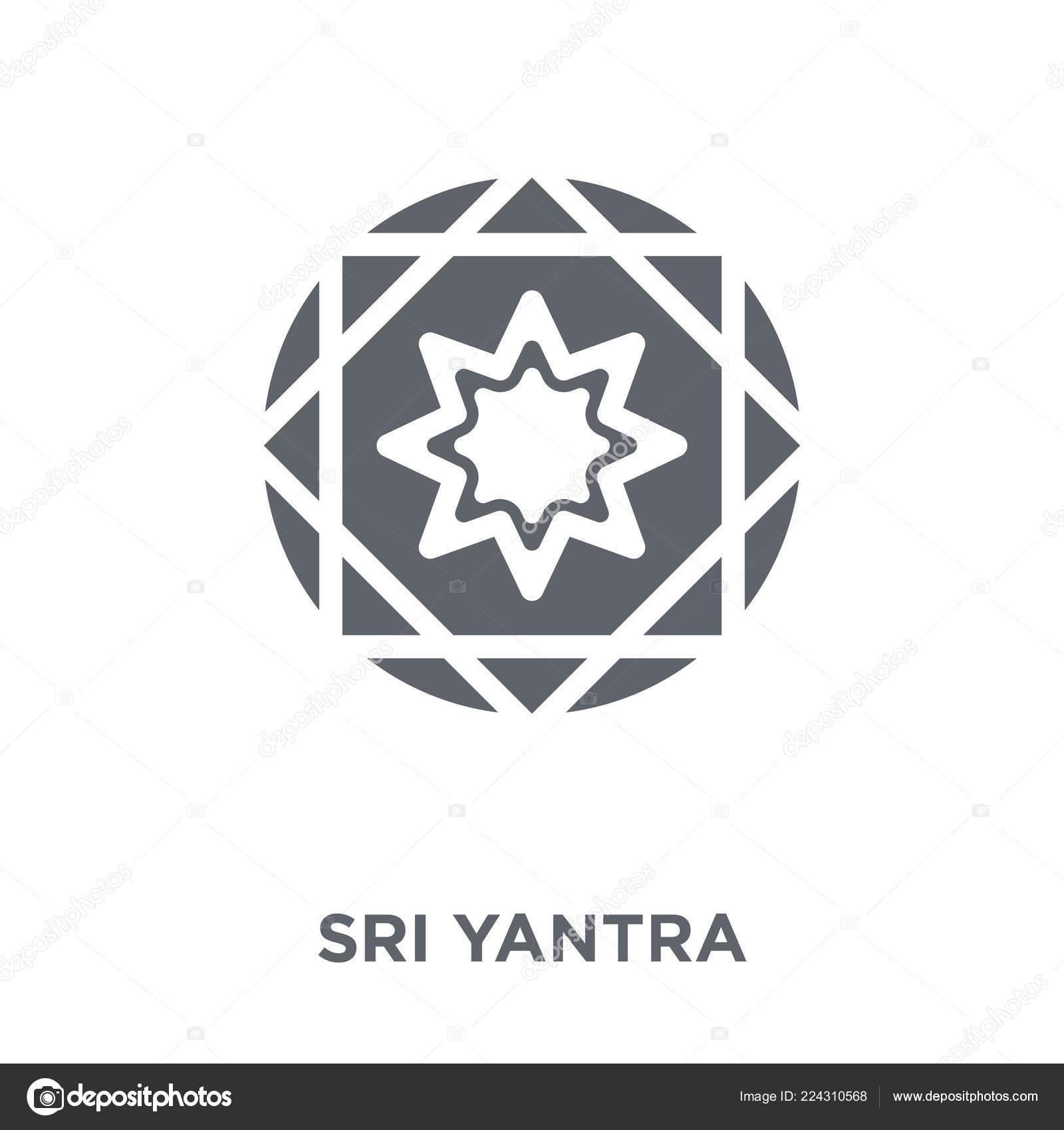 Sri Yantra Icon Sri Yantra Design Concept Geometry