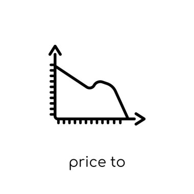 price to earnings ratio (pe ratio) icon. Trendy modern flat linear vector price to earnings ratio (pe ratio) icon on white background from thin line business collection, outline vector illustration