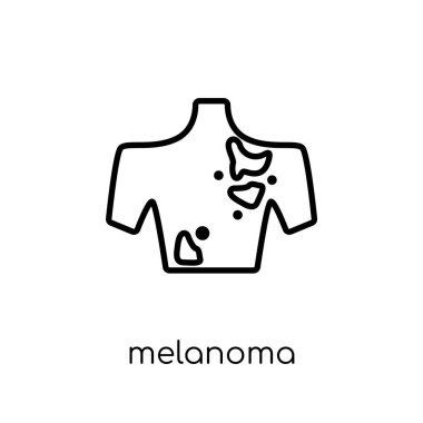 Melanoma icon. Trendy modern flat linear vector Melanoma icon on white background from thin line Diseases collection, editable outline stroke vector illustration