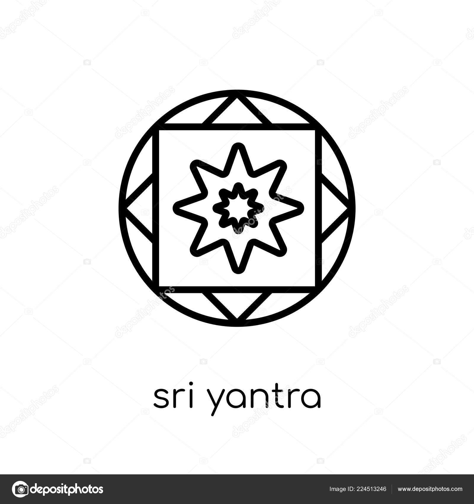 Sri Yantra Icon Trendy Modern Flat Linear Vector Sri Yantra