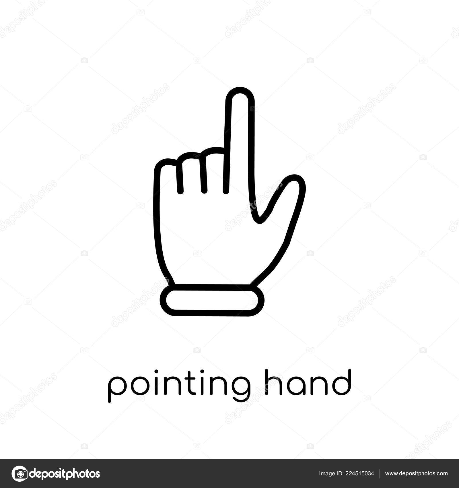 pointing hand icon trendy modern flat linear vector pointing hand stock vector c tvectoricons 224515034 https depositphotos com 224515034 stock illustration pointing hand icon trendy modern html