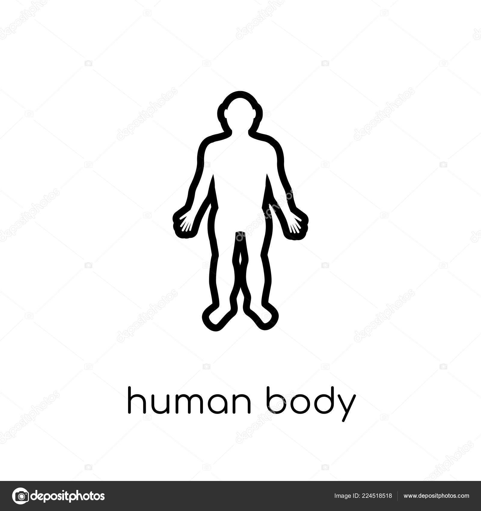 umriss menschlicher körper kostenlos