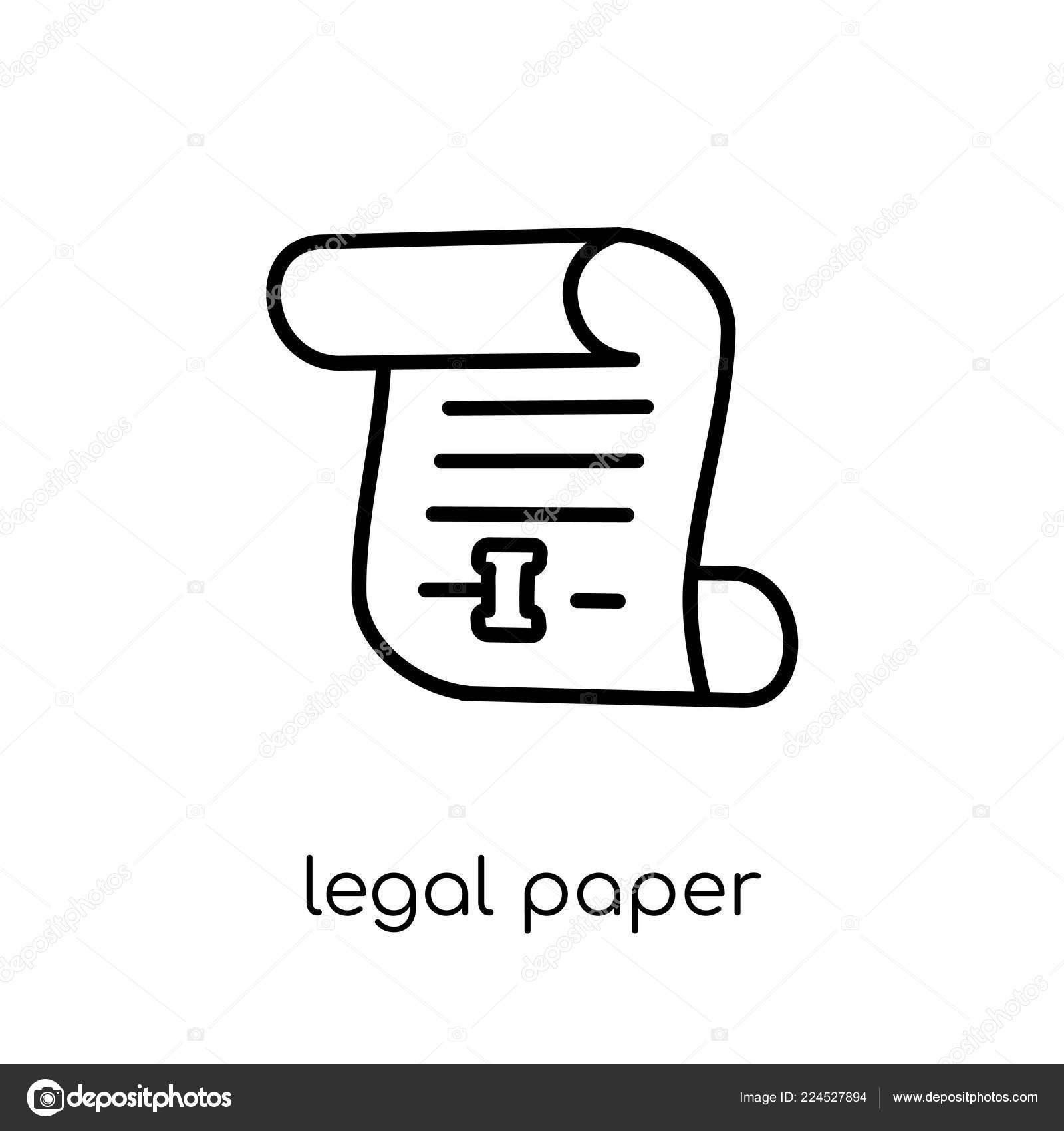 legal paper icon trendy modern flat linear vector legal paper