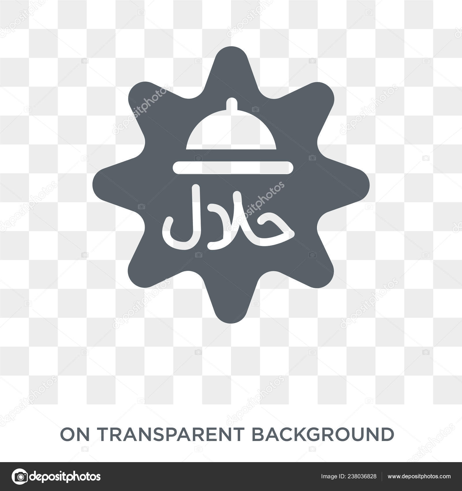 Halal Icon Trendy Flat Vector Halal Icon Transparent Background Religion Stock Vector C Tvectoricons 238036828