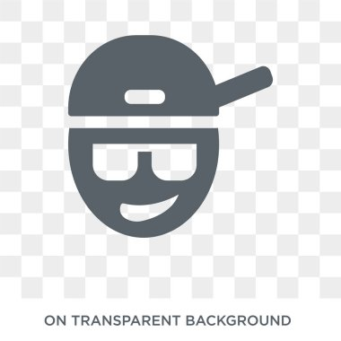 Rapper icon. Trendy flat vector Rapper icon on transparent background from United States of America collection. High quality filled Rapper symbol use for web and mobile