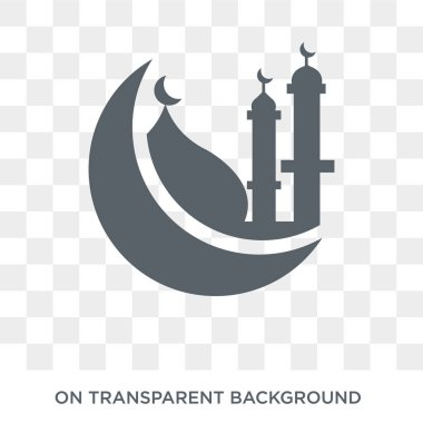 Islamic Mosque icon. Trendy flat vector Islamic Mosque icon on transparent background from Religion  collection. High quality filled Islamic Mosque symbol use for web and mobile